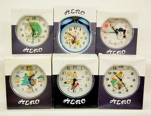 14: 6 Hero Comic Character & Animal Alarm Clocks