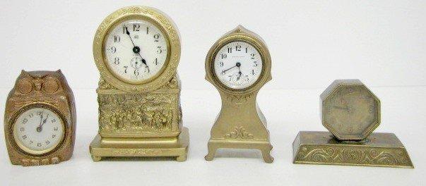 15: 4 Metal Case Dresser Clocks