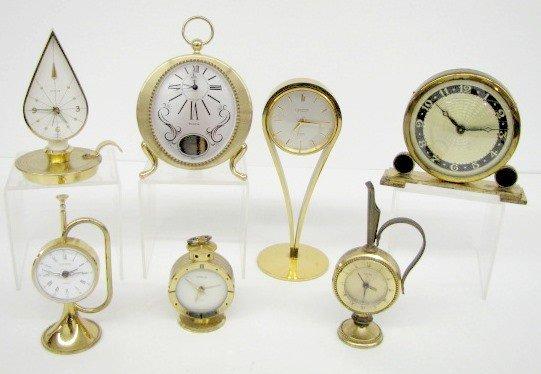 18: Group of 7 Brass Novelty Desk & Alarm Clocks