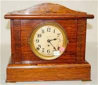 35A: Seth Thomas Red Adamantine Mantle Clock