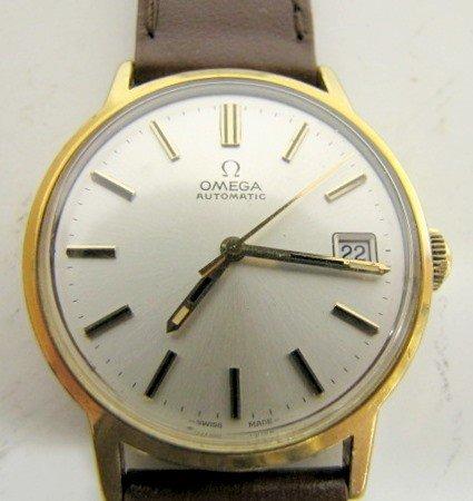 70B: Omega Men's Gold Filled Wrist Watch w/Date