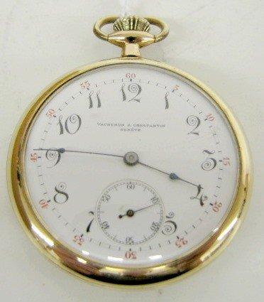 100B: Vacheron & Constantin Geneve 21J 12S Pocket Watch