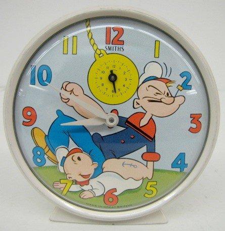 105B: Britain Popeye & SweetPea Animated Alarm Clock