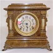 155A: Seth Thomas Adamantine 2-Column Mantle Clock