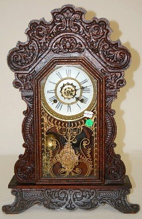 "2: Waterbury ""Festus"" Oak Kitchen Clock w/Alarm"
