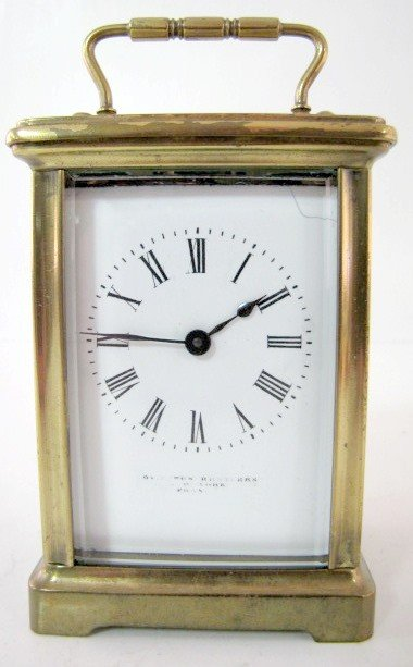 7: Signed 8 Day French Carriage Clock