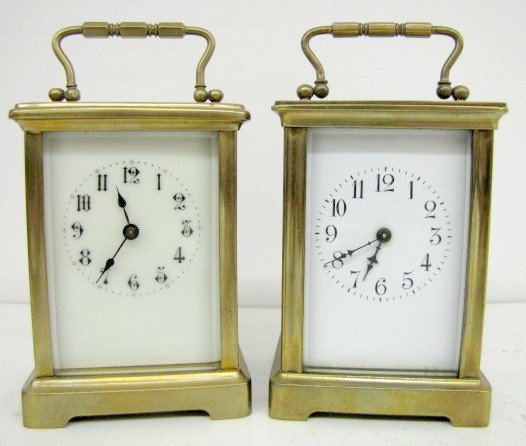 10: 2- 8 Day French Carriage Clocks