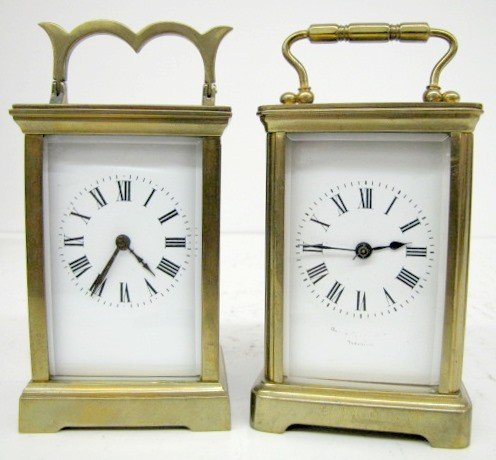 17: 2- 8 Day French Carriage Clocks