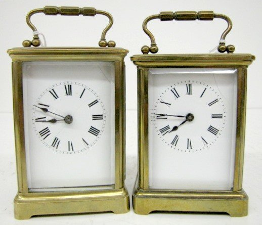 27: 2- 8 Day French Carriage Clocks