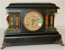 195A: Seth Thomas Adamantine 4-Column Mantle Clock