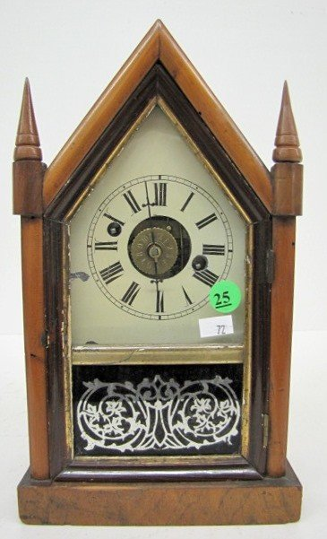 25: Miniature Empire Steeple Clock