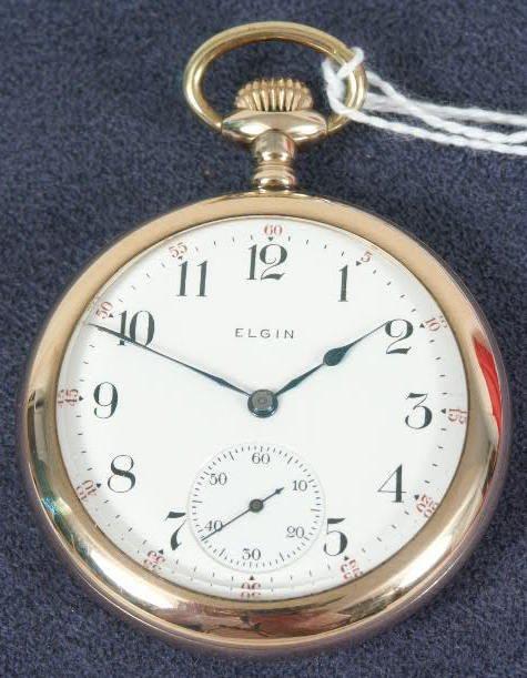 502: Elgin 17J 16's OF Pocket Watch NR