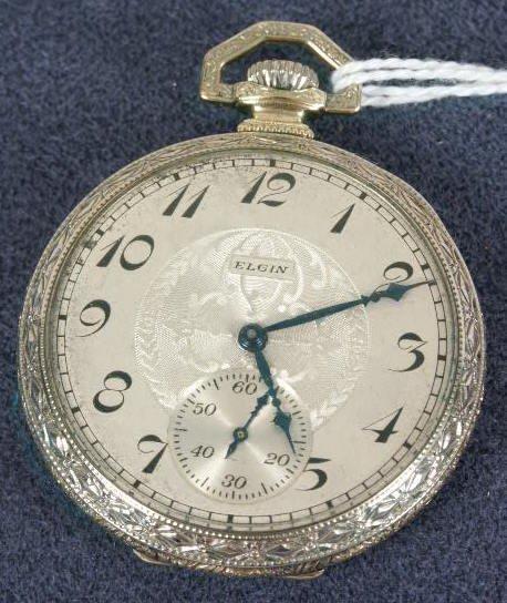 504: Elgin 15J 12's Two Tone Pocket Watch NR