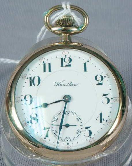505: Hamilton 21J 992 OF Pocket Watch NR