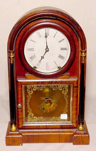 507A: Ansonia Gothic or Beehive Rosewood Mantle Clock