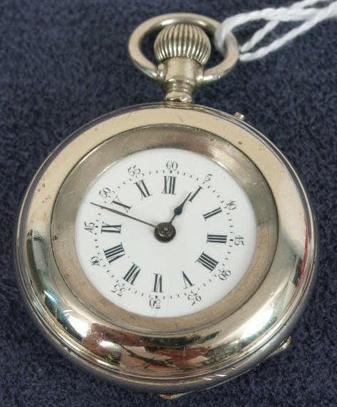 508: Swiss 0's Old Pin Set Dust Cover Pocket Watch NR
