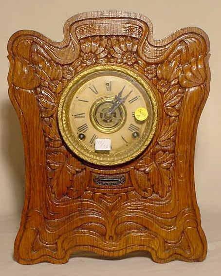 508A: Sessions Hercules Pressed Oak Parlor Clock NR