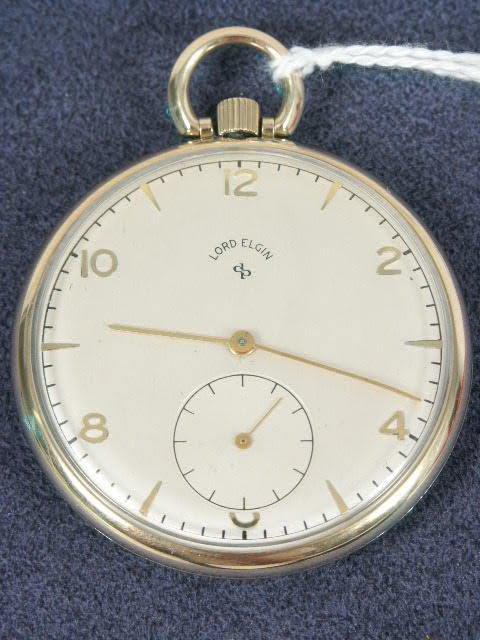 510: Lord Elgin 21J OF Pocket Watch NR