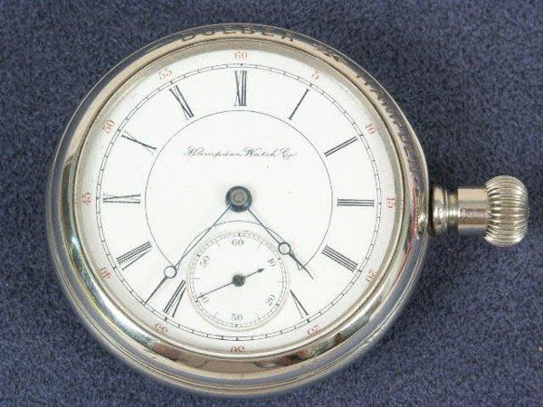 513: Hampden 17J 16's Dueber Pocket Watch NR