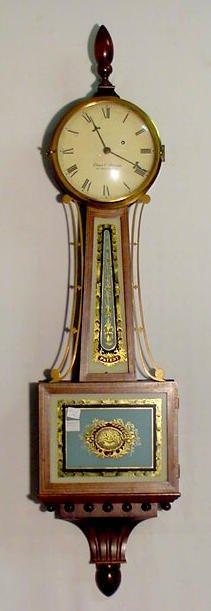 531A: Elmer Stennes Banjo Clock in Walnut & Mixed Wood