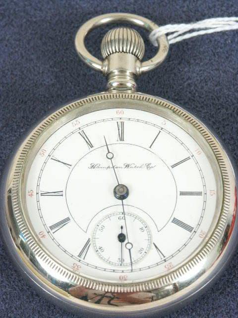 558: Hampden 17J 18's OF LS Pocket Watch NR