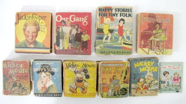 5: 10 Vintage Children's Books: Big Little & Others