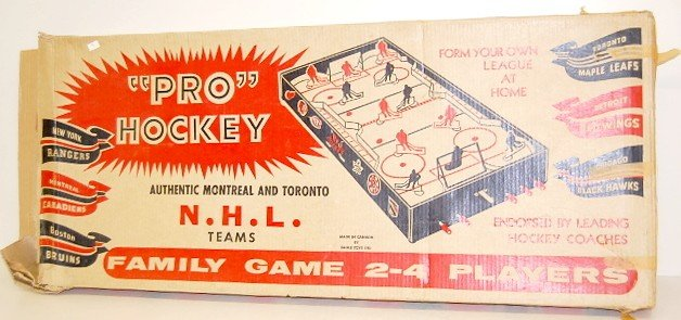 "18: N.H.L. ""Pro Hockey"" Table Game in Box"