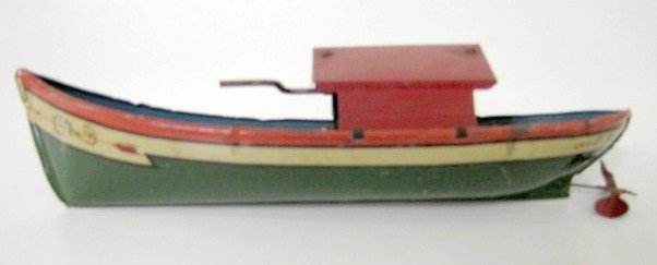 "20: Tin Litho Windup Toy Boat ""Ruth"""