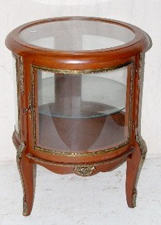 Small Round Curio Cabinet, End Table