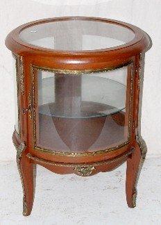 85 Small Round Curio Cabinet End