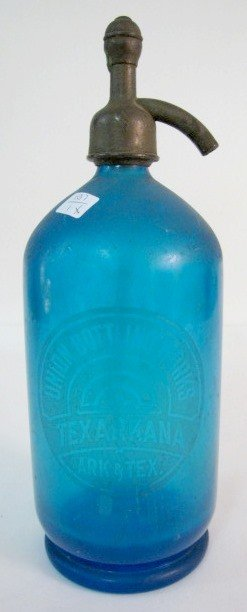 5A: Blue Glass Union Bottle Works Seltzer Bottle