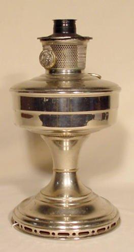1: Model 12 Aladdin Lamp Base in Nickel NR