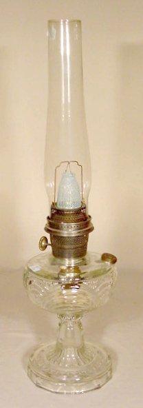 9: B-47 Clear Crystal Washington Drape Aladdin Lamp