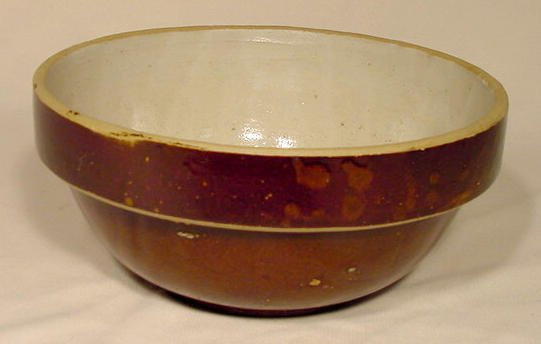 12: Stoneware Adv Mixing Bowl Hakes & Sons NR