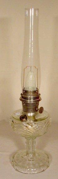 16: B-50 Clear Crystal Washington Drape Aladdin Lamp