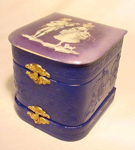 17: Celluloid Double Compartment Collar Box
