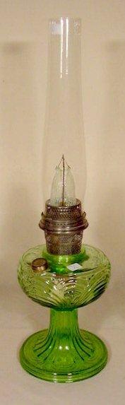 23: B-48 Green Crystal Washington Drape Aladdin Lamp