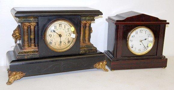 "9: 2 Mantle Clocks: Seth Thomas & Sessions ""Bellew"""