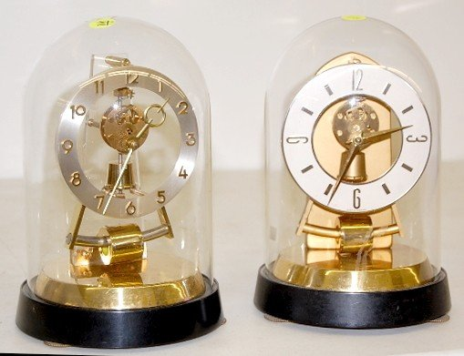 10: 2 Germany Battery Operated Dome Clocks