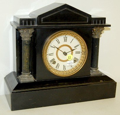 """11: Ansonia Iron Case """"Bristol Extra"""" Clock"""