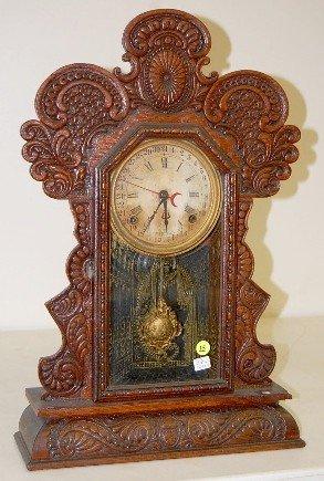 "15: Ingraham Oak ""Gila"" Calendar Clock"