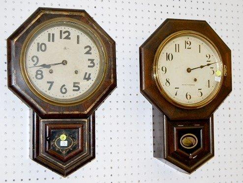 16: 2 Short Drop Clocks: Seth Thomas & Other