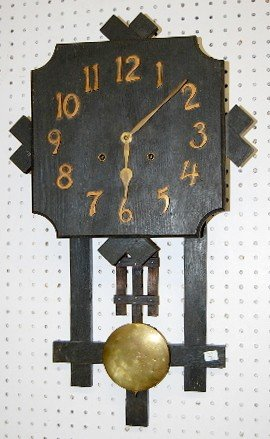 "18: Gilbert Mission Oak ""San Remo"" Wall Hanging Clock"