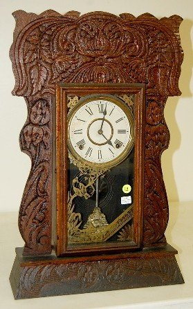 "19: Gilbert Oak ""Authors No. 162"" Kitchen Clock"