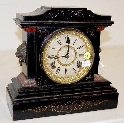 "21: Ansonia Iron Case ""La France"" Mantle Clock"