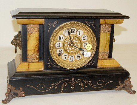 23: Gilbert Marbleized Mantle Clock