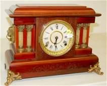 "61: Seth Thomas Red Adamantine ""Shasta"" Mantle Clock"