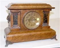 75: Seth Thomas Adamantine Column Mantle Clock
