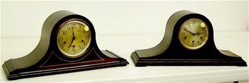 133 2 Seth Thomas Mahogany Tambour Mantle Clocks