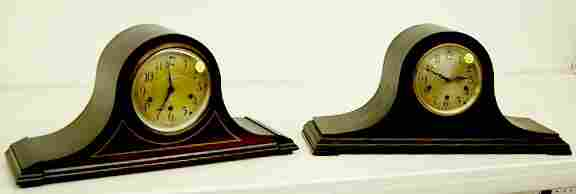 2 Seth Thomas Mahogany Tambour Mantle Clocks